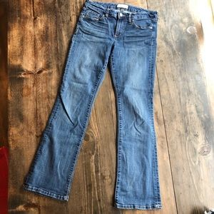 Banana Republic Slim Bootcut Jeans 6 28 28P 6P